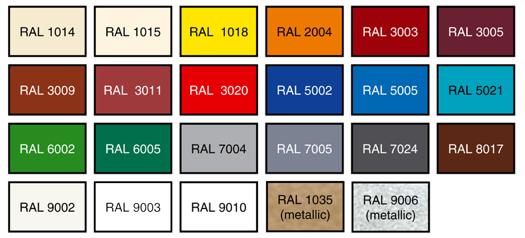 Карта цветов рал металлопрофиль