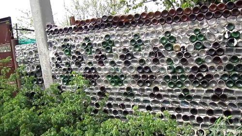 Как сделать ограду для грядок из пластиковых бутылок