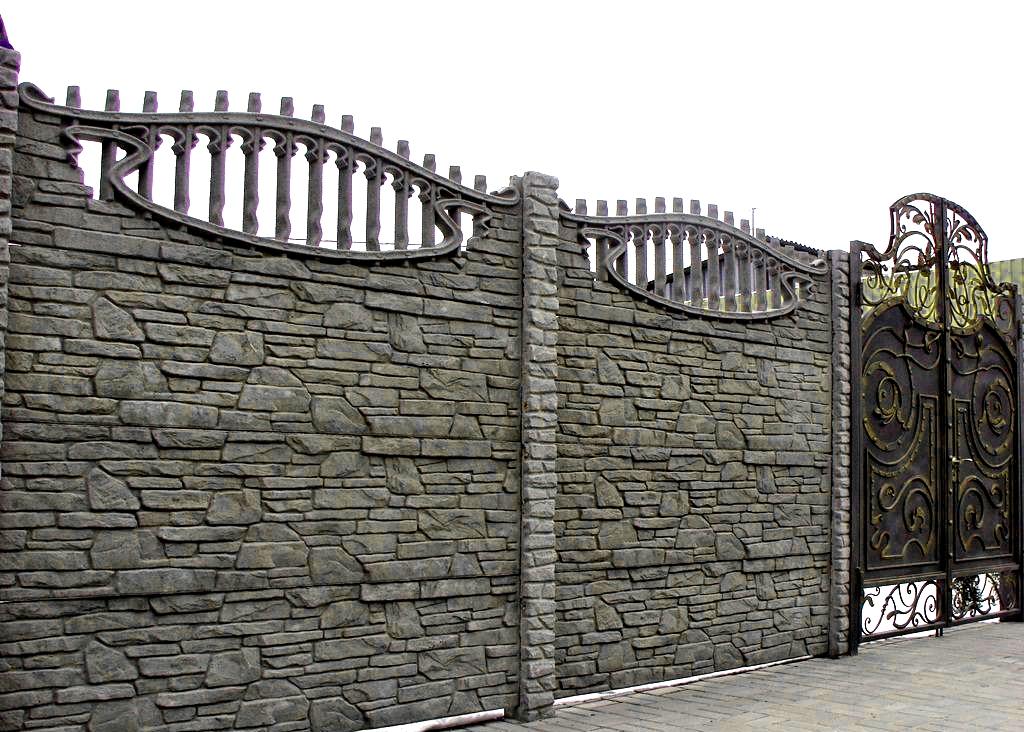 Декоративные бетонные заборы: ажурные, двухсторонние, фото заборов из  фигурного бетона, производство и установка