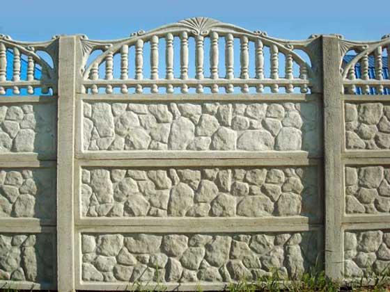 Декоративные железобетонные ограды кессоны железобетонные